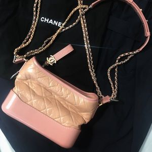 100% Authentic Chanel Gabrielle Hobo Small Pink